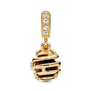 Pandora Sparkling Beehive Dangle Charm